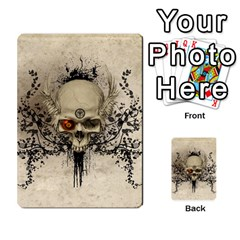 Awesome Skull With Flowers And Grunge Multi Purpose Cards (rectangle)  by FantasyWorld7