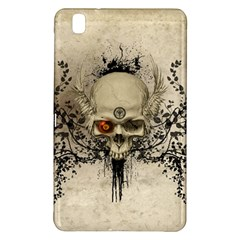 Awesome Skull With Flowers And Grunge Samsung Galaxy Tab Pro 8 4 Hardshell Case by FantasyWorld7