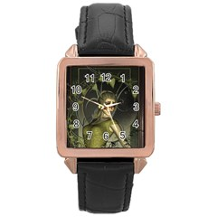 Wonderful Fairy Rose Gold Leather Watch  by FantasyWorld7