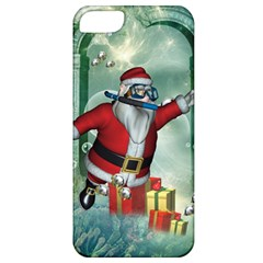 Funny Santa Claus In The Underwater World Apple Iphone 5 Classic Hardshell Case by FantasyWorld7