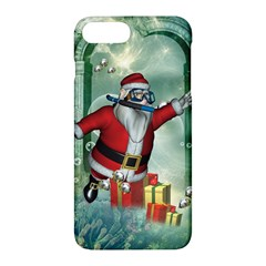 Funny Santa Claus In The Underwater World Apple Iphone 7 Plus Hardshell Case by FantasyWorld7