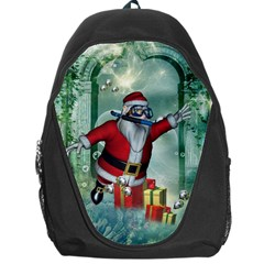 Funny Santa Claus In The Underwater World Backpack Bag by FantasyWorld7