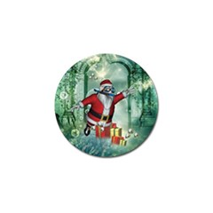 Funny Santa Claus In The Underwater World Golf Ball Marker by FantasyWorld7