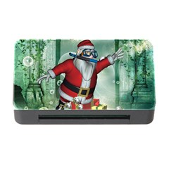 Funny Santa Claus In The Underwater World Memory Card Reader With Cf by FantasyWorld7