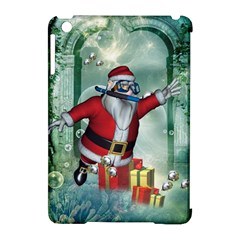 Funny Santa Claus In The Underwater World Apple Ipad Mini Hardshell Case (compatible With Smart Cover) by FantasyWorld7