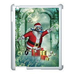 Funny Santa Claus In The Underwater World Apple Ipad 3/4 Case (white)