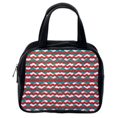 Geometric Waves Classic Handbags (one Side) by dflcprints