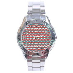 Geometric Waves Stainless Steel Analogue Watch by dflcprints