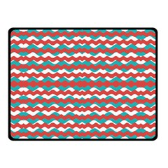 Geometric Waves Double Sided Fleece Blanket (small)  by dflcprints