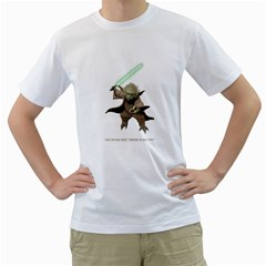 Men s T Shirt (white) (do Or Do Not There Is No Try   Yoda)