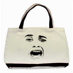 Scared Woman Expression Basic Tote Bag (two Sides) by dflcprints