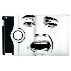 Scared Woman Expression Apple Ipad 3/4 Flip 360 Case by dflcprints