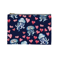 Jellyfish Love Cosmetic Bag (large)  by BubbSnugg