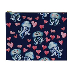 Jellyfish Love Cosmetic Bag (xl) by BubbSnugg