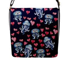Jellyfish Love Flap Messenger Bag (l)  by BubbSnugg