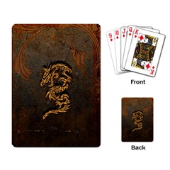 Awesome Dragon, Tribal Design Playing Card by FantasyWorld7