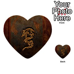 Awesome Dragon, Tribal Design Multi Purpose Cards (heart)  by FantasyWorld7
