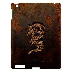 Awesome Dragon, Tribal Design Apple Ipad 3/4 Hardshell Case by FantasyWorld7
