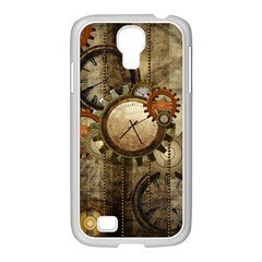 Wonderful Steampunk Design With Clocks And Gears Samsung Galaxy S4 I9500/ I9505 Case (white) by FantasyWorld7