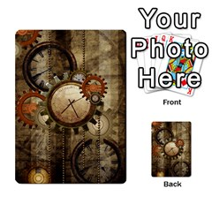 Wonderful Steampunk Design With Clocks And Gears Multi Purpose Cards (rectangle)  by FantasyWorld7