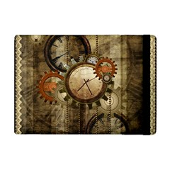 Wonderful Steampunk Design With Clocks And Gears Apple Ipad Mini Flip Case by FantasyWorld7