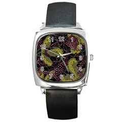Abstract Garden Square Metal Watch by Valentinaart