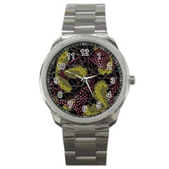 Abstract Garden Sport Metal Watch by Valentinaart