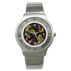 Abstract Garden Stainless Steel Watch by Valentinaart