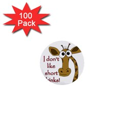 Giraffe Joke 1  Mini Buttons (100 Pack)  by Valentinaart
