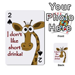 Giraffe Joke Playing Cards 54 Designs  by Valentinaart