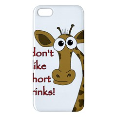 Giraffe Joke Apple Iphone 5 Premium Hardshell Case by Valentinaart