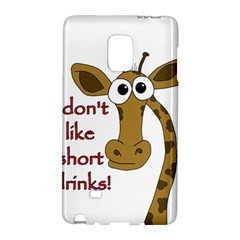 Giraffe Joke Galaxy Note Edge by Valentinaart