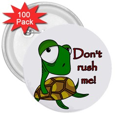 Turtle Joke 3  Buttons (100 Pack)  by Valentinaart