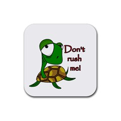 Turtle Joke Rubber Coaster (square)  by Valentinaart