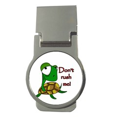 Turtle Joke Money Clips (round)  by Valentinaart