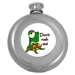 Turtle Joke Round Hip Flask (5 Oz) by Valentinaart