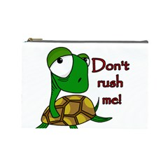 Turtle Joke Cosmetic Bag (large)  by Valentinaart