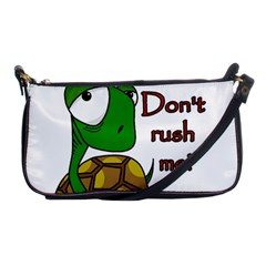 Turtle Joke Shoulder Clutch Bags by Valentinaart