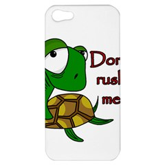 Turtle Joke Apple Iphone 5 Hardshell Case by Valentinaart