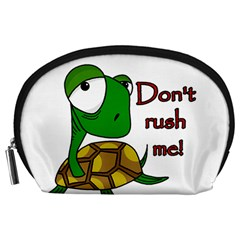Turtle Joke Accessory Pouches (large)  by Valentinaart