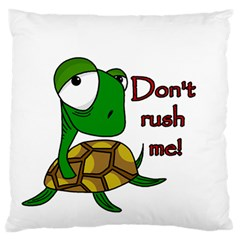 Turtle Joke Large Flano Cushion Case (one Side) by Valentinaart
