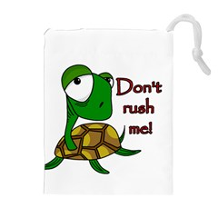 Turtle Joke Drawstring Pouches (extra Large) by Valentinaart