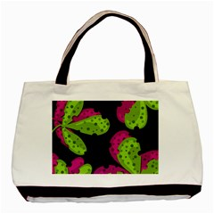 Decorative Leafs  Basic Tote Bag (two Sides) by Valentinaart