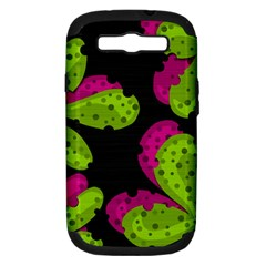 Decorative Leafs  Samsung Galaxy S Iii Hardshell Case (pc+silicone) by Valentinaart