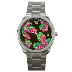 Colorful Leafs Sport Metal Watch by Valentinaart