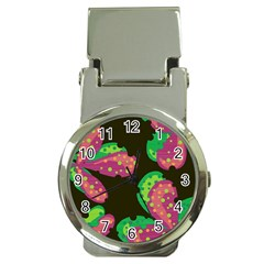 Colorful Leafs Money Clip Watches by Valentinaart