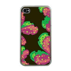 Colorful Leafs Apple Iphone 4 Case (clear) by Valentinaart
