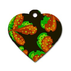 Autumn Leafs Dog Tag Heart (one Side) by Valentinaart