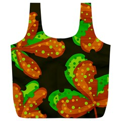 Autumn Leafs Full Print Recycle Bags (l)  by Valentinaart