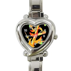 Orange Moon Tree Heart Italian Charm Watch by Valentinaart